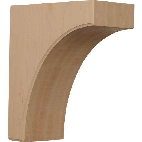 Ekena Millwork BKTW05X10X12CVRW 5 1/2-Inch W by 10-Inch D by 12-Inch H Clarksville Bracket, Rubber Wood