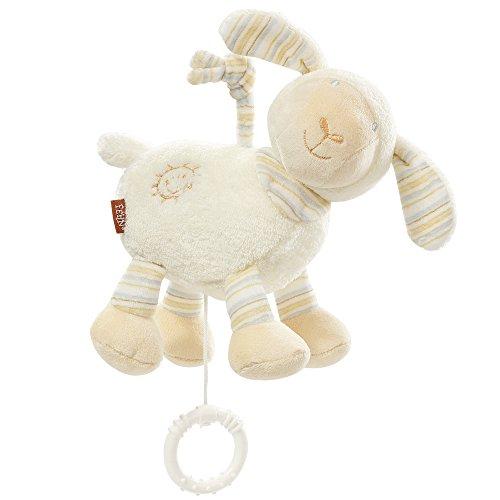 Fehn 154658 Spieluhr Schaf – Aufzieh-Spieluhr mit herausnehmbarem Spielwerk – Für Babys und Kleinkinder ab 0+ Monaten – Maße: 16 cm