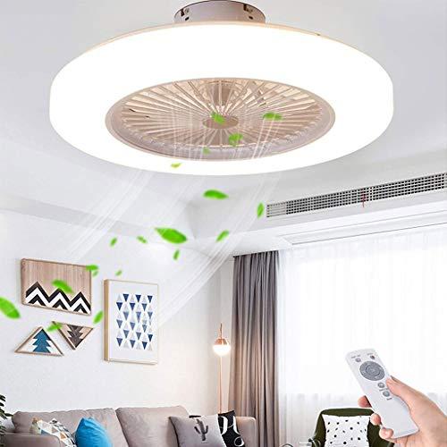 Deckenventilatoren Mit Beleuchtung, Mit App-Steuerung Und Fernbedienung, Dimmbarer, Geschwindigkeitseinstellungen, 36W Moderne LED Deckenleuchte Mit Ventilator Für Schlafzimmer Wohnzimmer Ø58cm,Weiß