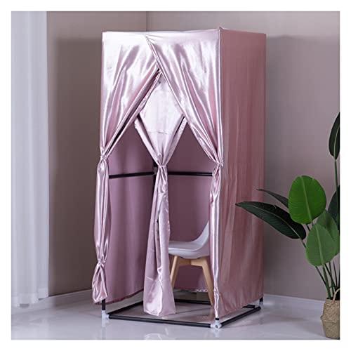 BAIYING Vestuario Vestuario, Sala De Montaje Simple, Vestuario Refugio De Privacidad, Kit De Cortina De Tela De Impresión para Acampar Al Aire Libre, 8 Colores (Color : Pink, Size : 85x85x200cm)