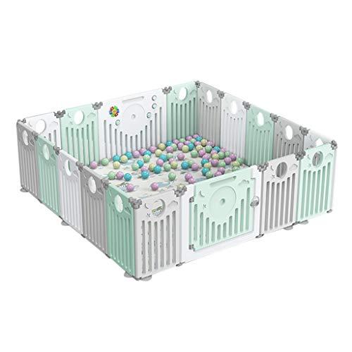 Mena UK Parc pour Bébé, Grand Stylo De Jeu en Plastique Intérieur/Extérieur Portable avec Panneaux - Playgate De Sécurité avec Clôture pour Les Enfants