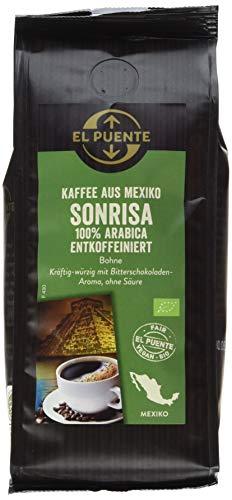 El Puente Bio-Cafe Sonrisa, koffeinfrei, Bohne (1 x 250 g)
