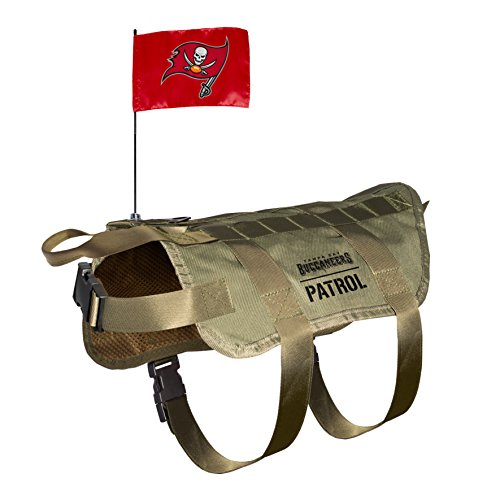 NFL Tampa Bay Buccaneers Pet Tactical Vest, Medium/Large