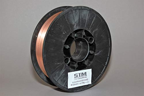 Preisvergleich Produktbild Schutzgas Schweißdraht Stahldraht SG2 0, 8mm CO2 G3Si1 MIG / MAG 0, 5-5kg D100 D200 (D200 2, 0kg)