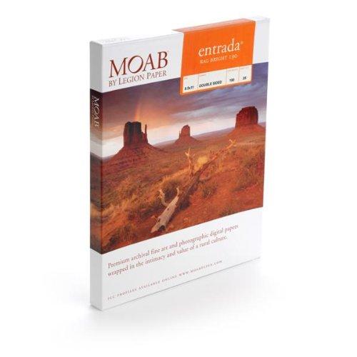 MOAB Papier GAMME ENTRADA RAG BRIGHT - 190gr - A2 25 Feuilles