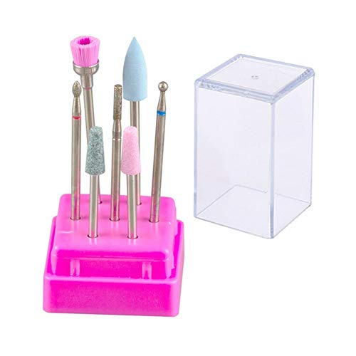Nail Art Equipment Milling Cutter for Manicure Set Nail Drill Bits for Electric Manicure Machine Accessories Mill Cutters Pedicure Nail Files Tools (Color : S07 L)