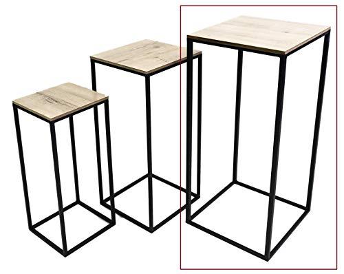 Hoher Beistelltisch Holz Metall Telefontisch Pflanzentisch Blumentisch Tisch (Großer Tisch: 70 x 30 x 30 cm)