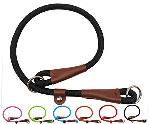 MayPaw Slip Collar Nylon Rope Choke Collar for Dog Training- No Pull Round Martingale Dog Collar for Small Medium Large Dogs