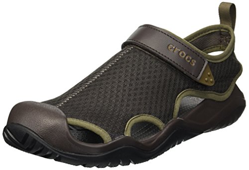 Crocs Herren Swiftwater Mesh Deck Sandal M Zehentrenner, Brown, 43/44 EU