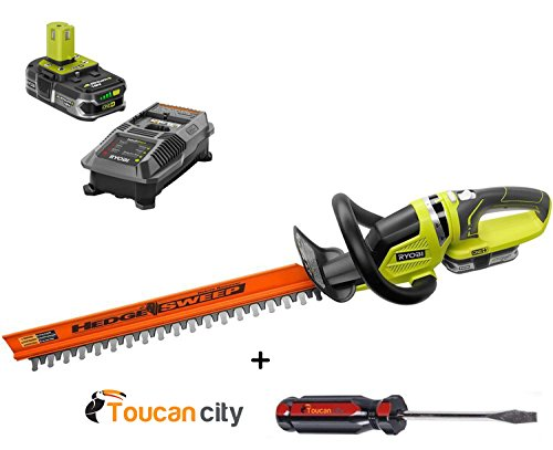 Why Choose Toucan city Ryobi P2660 ONE+ Lithium+ 22 in. 18-Volt Lithium-Ion Cordless Hedge Trimmer E...