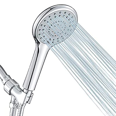 FYRLLEU High Pressure Shower Head with Handheld, 5 Functions Shower Head Hand-held High Flow Handheld Shower Head with Hose, Bracket Rubber Washers