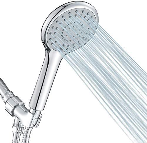 FYRLLEU High Pressure Shower Head with Handheld 5 Functions Shower Head Hand held High Flow product image
