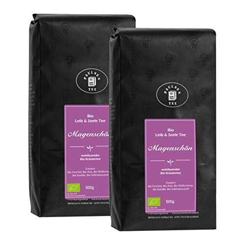 Bio Magenschön 2 x 500g (32,95 Euro / kg) Paulsen Tee Leib & Seele Kräuter- und Früchteteemischung rückstandskontrolliert & zertifiziert