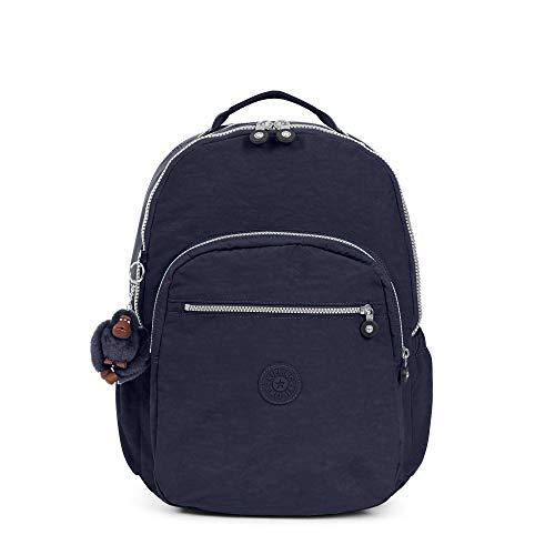 Kipling womens Seoul GO XL True Blue Laptop Backpack, true blue, One Size