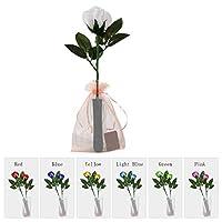 Ajaol バラ LED造花 LEDライトローズ 変更7色ホワイトローズ LED花束の花をつけます 電池式 プレゼント バレンタイン・デー お誕生日 アニバーサリーフォーエバーエタニティローズ - 9つのライトカラーモード