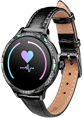 NCHEOI SmartWatch Moda M9 Reloj Inteligente Período fisiológico Femenino Recordatorio IP68 Impermeable Deportes Tarifa cardíaca Blood Aptitud Pulsera App Aplicación Android iOS Sé Diferentes/G