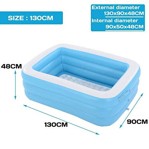 DJYD 1.1m-3.05m Inflatable Swimming Pool Thicken bath barrel Adults Kids folding bathtub Inflatable bathtub Inflatable Swimming Pool (Color : 1.3m) FDWFN (Color : 1.3m)