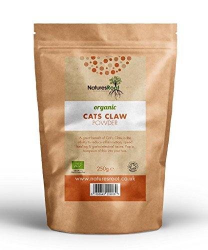 Natures Root Bio Katzenkralle Pulver - 100% Reiner Katzenkralle | Cats Claw | Immunsystem | Una de Gato (250g)