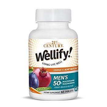 21st Century Wellify Men s 50+ Multivitamins with Minerals 65Count