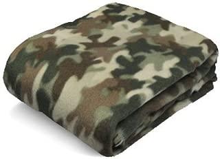 Fleece Blanket, Green Camouflage Blanket, 50