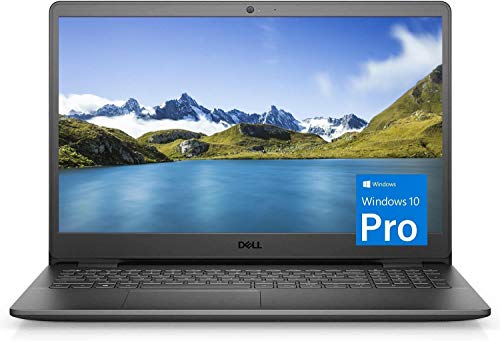 "Dell Inspiron 15 3000 Laptop (2021 Latest Model), 15.6"" HD Display, Intel N4020 Dual-Core Processor, 8GB RAM, 256GB SSD, Webcam, HDMI, Bluetooth, Wi-Fi, Black, Windows 10 Pro"
