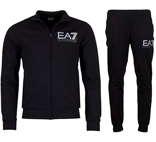 EA - EA7 Trainingsanzug Herren Baumwolle-Logo-Schwarz - XXL