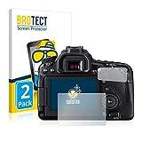 BROTECT Protector Pantalla Anti-Reflejos Compatible con Canon EOS 80D (2 Unidades) Pelicula Mate Anti-Huellas
