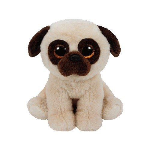 Carletto Ty 42181 Rufus Pug Dog Plüschtier, Beige/braun