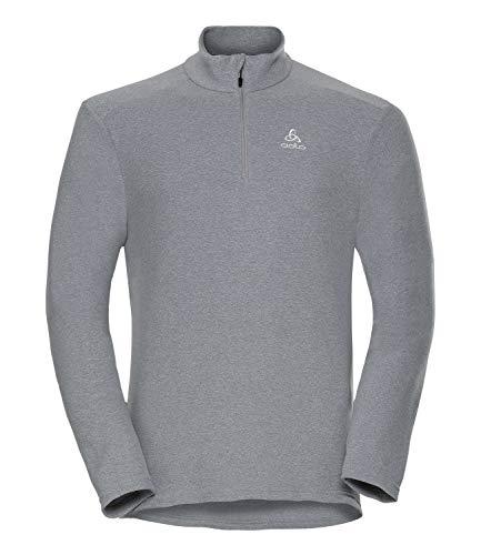 Odlo Midlayer 1/2 Zip BERNINA Sweaters Homme Grey Mélange FR: L (Taille Fabricant: L)