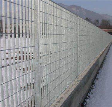 ITALFROM Pannello Recinzione CANCELLATA RINGHIERA PARAPETTO GRIGLIATO in Ferro ZINCATO-Maglia:mm69X132 - Misura:mm1992x 930 h(3786)