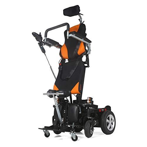 MUJO Silla de ruedas eléctrica Plegable Ligera Deluxe Plegable Potencia de movilidad...