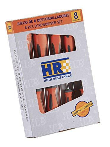 ALYCO 170450 - Juego de 8 destornilladores HR High Resistance mango bimaterial en caja de carton