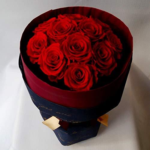プリザーブドフラワー 【11本最愛beloved】枯れない花、赤いバラレッド置ける花束。
