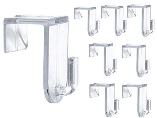 Bada Bing 8er Set Fensterhaken Türhaken Transparent Haken Für Ihre Fensterdekoration Fenster Für Jede Rahmenfarbe 93