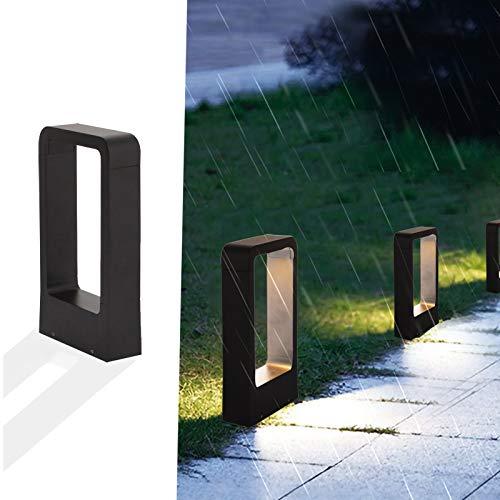 Außenleuchte 7W IP65 anthrazit Außenbeleuchtung Stilvolle Außen-Standleuchte schwarzLampAussen Gartenbeleuchtung led 3000k Pollerleuchte Garten-Lampe balkon Wegeleuchten außen für garten