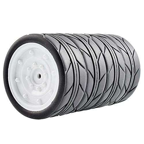 Fingerorthese.LQ New 4PCS 1:10 Neumático para Correr Neumáticos de 64 mm Neumático de Goma Suave Adecuado para Hsp 94122 D3 RC Cars Piezas de Bricolaje Repuestos para Drones (Color: B) (Color: L)