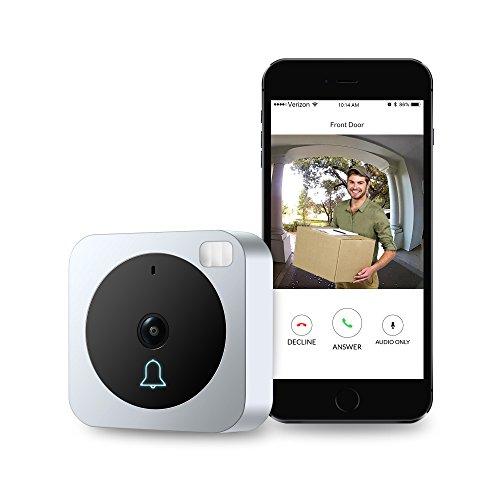 VueBell - Cámara de vídeo timbre con WiFi, audio bidireccional, sensor de movimiento y visión nocturna. Cámara para puerta con timbre inalámbrico adicional incluido (versión con cable)