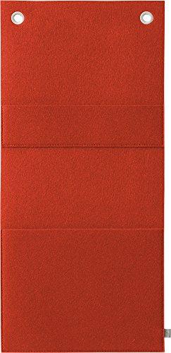 Fine Filz Zeitschriftenhalter ZH aus 100% Merinowollfilz (Hokkaido Orange, 28 x 130 cm)