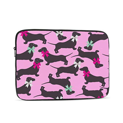Mac Book Covers Cute Pet Smart Animation Dog Dachshund Case for Mac Multi-Color & Size Choices10/12/13/15/17 Inch Computer Tablet Briefcase Carrying Bag
