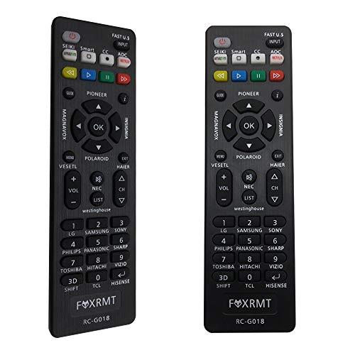 FOXRMT Télécommande Universelle pour Telecommande Philips LG Samsung Sony Hisense Vizio Sharp Panasonic TCL Smart TVs- Aucune Configuration requise