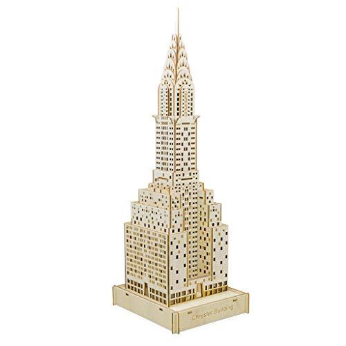 Chrysler Building Color Box 3D DIY 3D Puzzle Corte por Láser