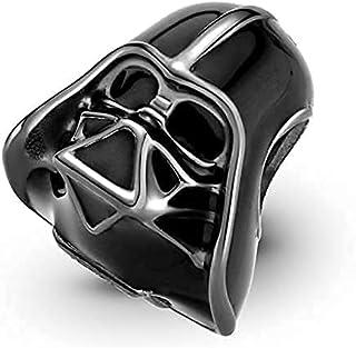 Abalorio de Darth Vader Jedi Star Wars compatible con abalorios Pandora, pulsera de cadena de plata, Trollbeads, Chamilia ...