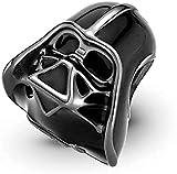 Abalorio de Darth Vader Jedi Star Wars compatible con abalorios Pandora, pulsera de cadena de plata, Trollbeads, Chamilia y Biagi