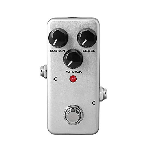 ZDAMN Guitar effect processor FCP-2 Compressor Guitar Effects Pedal Instrument Guitar Parts Mini And Portable Guitar tuning accessories (Color : White, Size : One size)