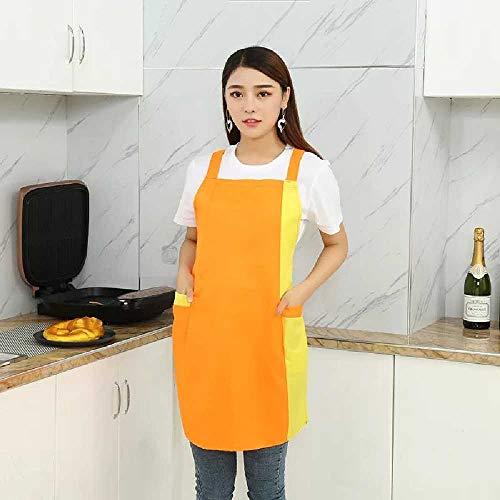 wangtao Keukenschorten Voor Dames Woonwinkel En Kapper Mouwloze Werkschort Slab Koken Werkkleding Aangroeiwerende Schorten oranje