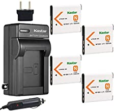 Kastar 4X Battery + Charger Replacement for Sony NP-BN1 DSC-QX10 DSC-QX30 DSC-QX100 DSC-TF1 DSC-TX10 DSC-TX20 DSC-TX30 DSC-W530 DSC-W570 DSC-W650 DSC-W800 DSC-W830 DSC-W560 DSC-T99 DSC-TX5 DSC-W320