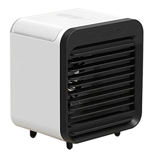 HehiFRlark Ventilador de Carga USB Refrigeración de Escritorio Ventilador de Dormitorio portátil USB Alta Capacidad Negro + Blanco 5000mah