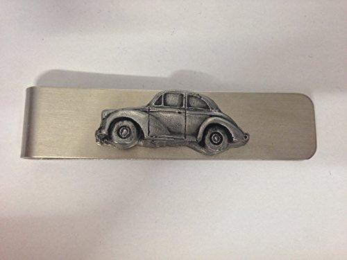 Clip de dinero de acero inoxidable con un emblema Morris Menor 2 puertas Saloon 3D efecto peltre ref160