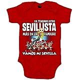 Body bebé ya tenemos otro Sevillista más en la familia para aficionado al fútbol de Sevilla - Rojo, Talla única 12 meses