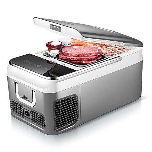 Frigoríficos mini Mini Refrigerador del Coche, 12V/24V/220V Auto y Hogar de Doble Uso Nevera Portátil con Congelador, 18L/26L Refrigerador Compacto de Refrigeración de Doble Núcleo para Coche, Camión,